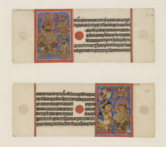 Two folios from the