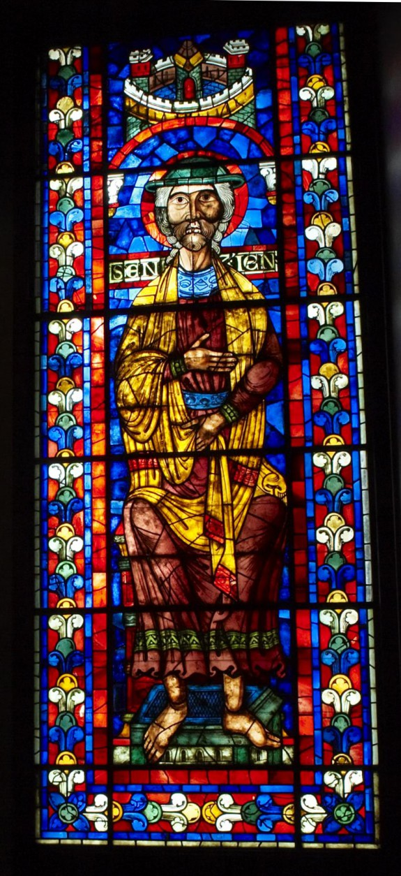Stained Glass Window with the Prophet Joel