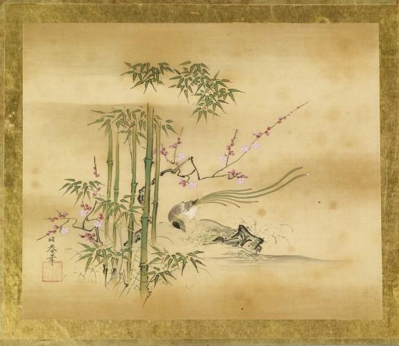 Bird of Good Fortune, Prunus, Bamboo