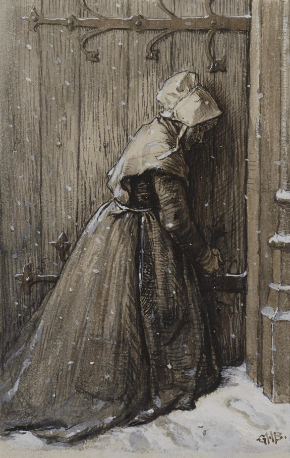 Woman at Church Door
