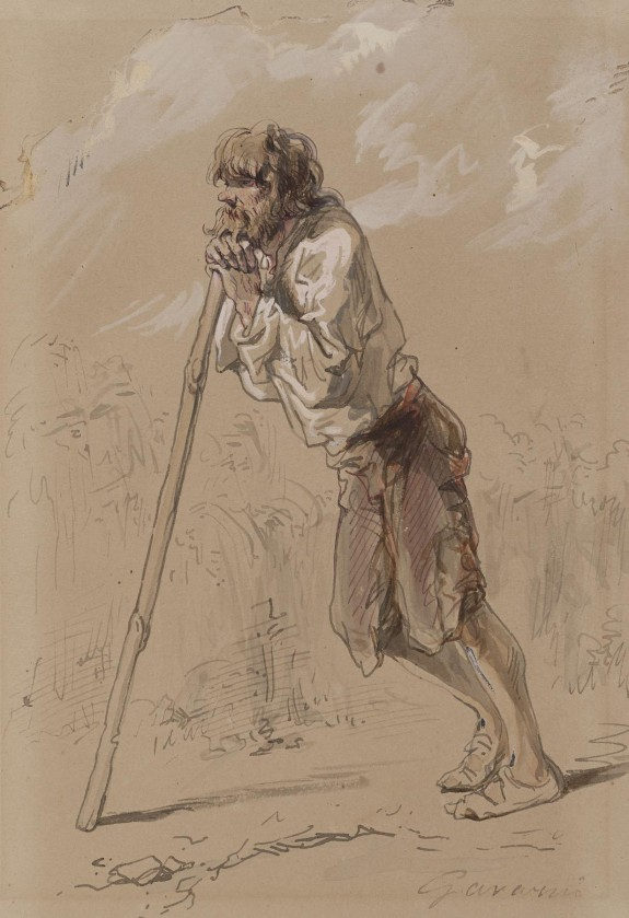 Peasant Leaning on a Stick