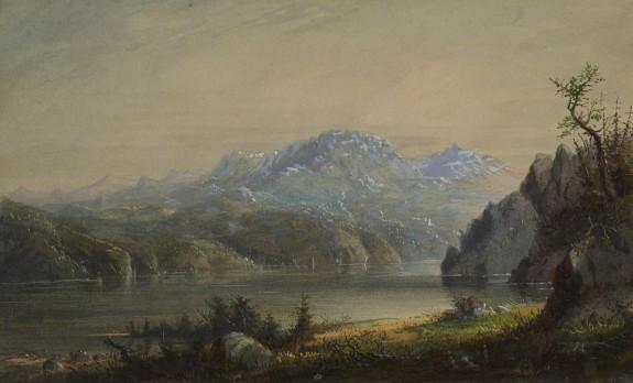 Lake and Mountain Scene