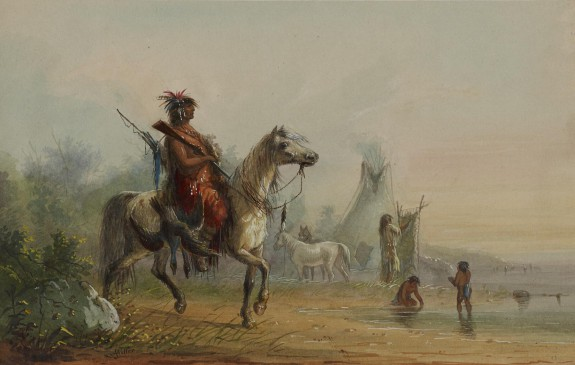 Indian Returning to Camp with Game