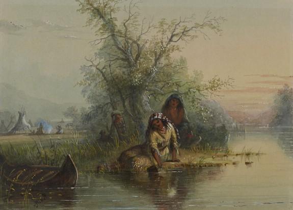 Indian Encampment on the Eau Sucre River