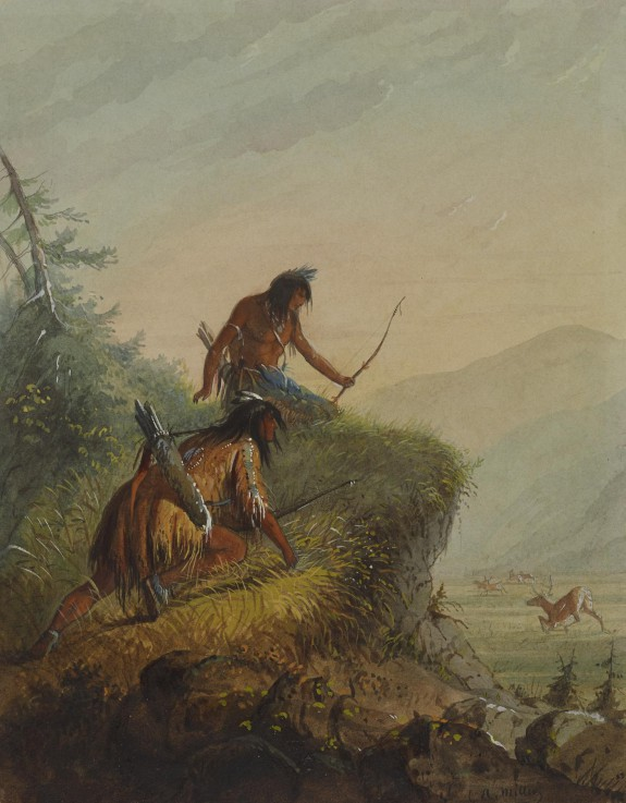 Snake Indians Shooting Elk