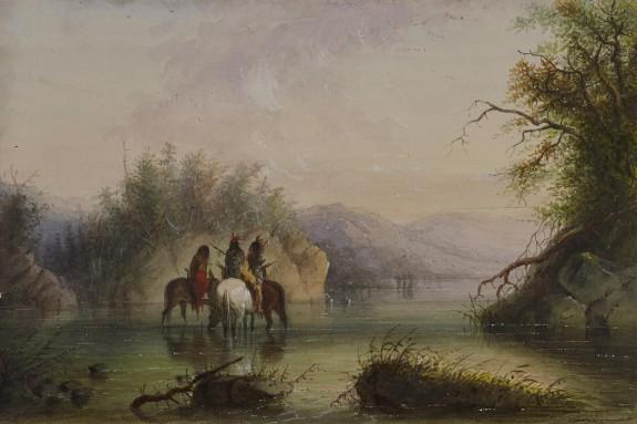 River Scene - Watering Horses