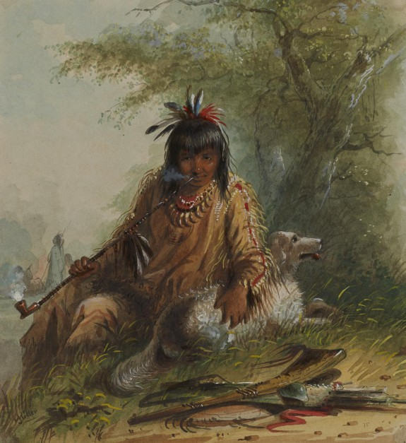 Snake Indian and His Dog