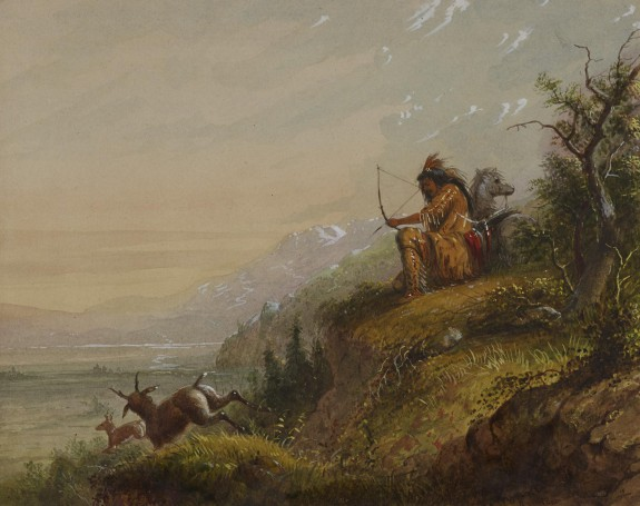 A Pawnee Indian Shooting Antelope