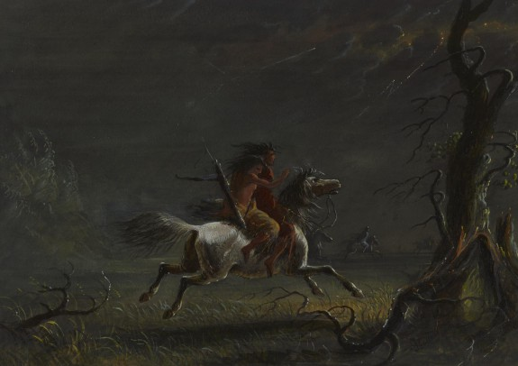 Indians in a Storm: Night Scene