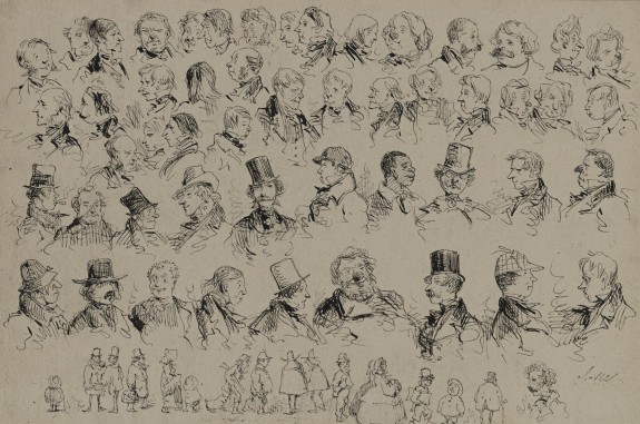 Heads and Figures of Various Types of People
