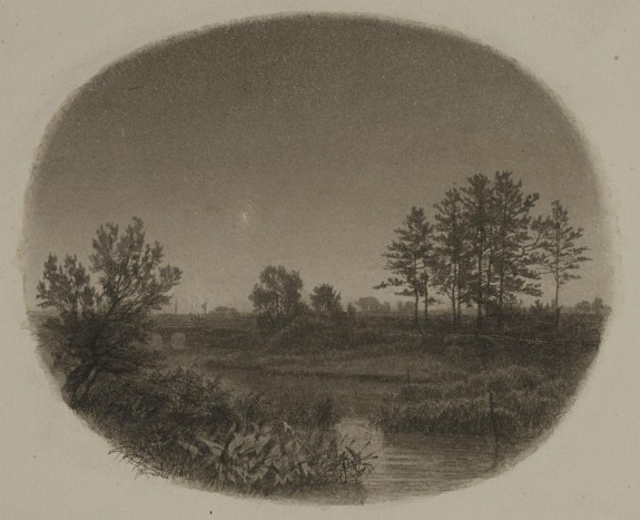 River Landscape with Evening Star