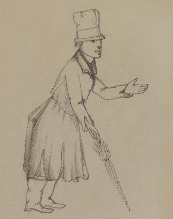 Untitled: Françoise Ravel as Bertrand [Verso: Antoine Ravel as Bertrand]