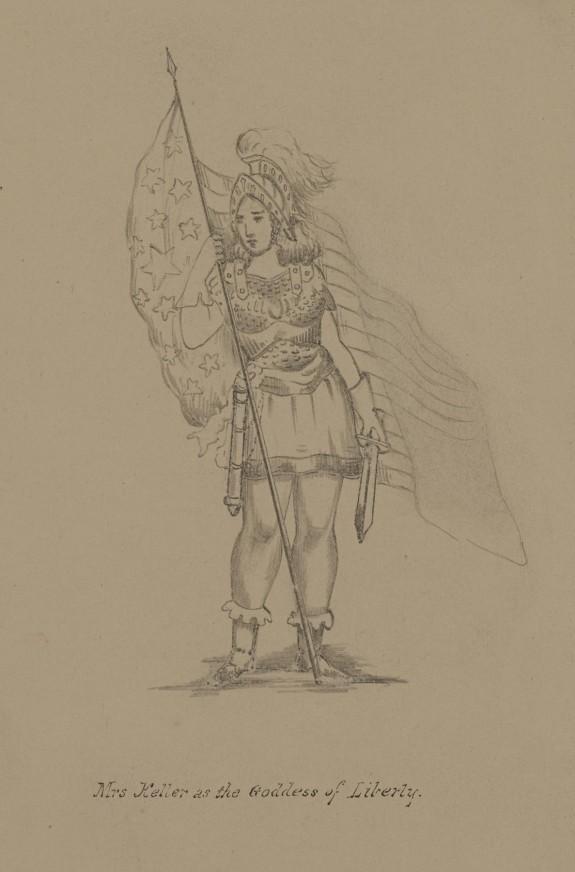Mrs. Keller as the Goddess of Liberty