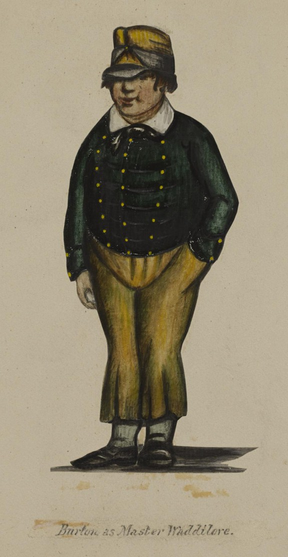 William Evans Burton (1804-1860) as Waddilove [In To Parents and Guardians]