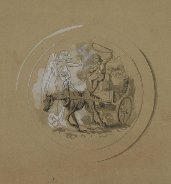 Untitled: Study of a Horsecart