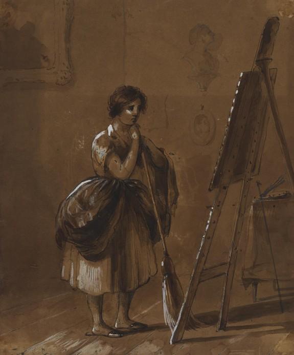 Artist's Studio. The Critic.