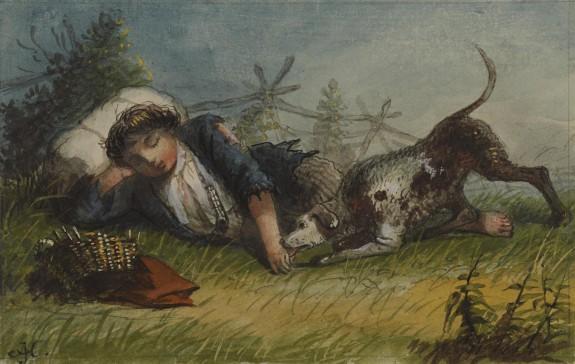 Beggar Boy and His Dog