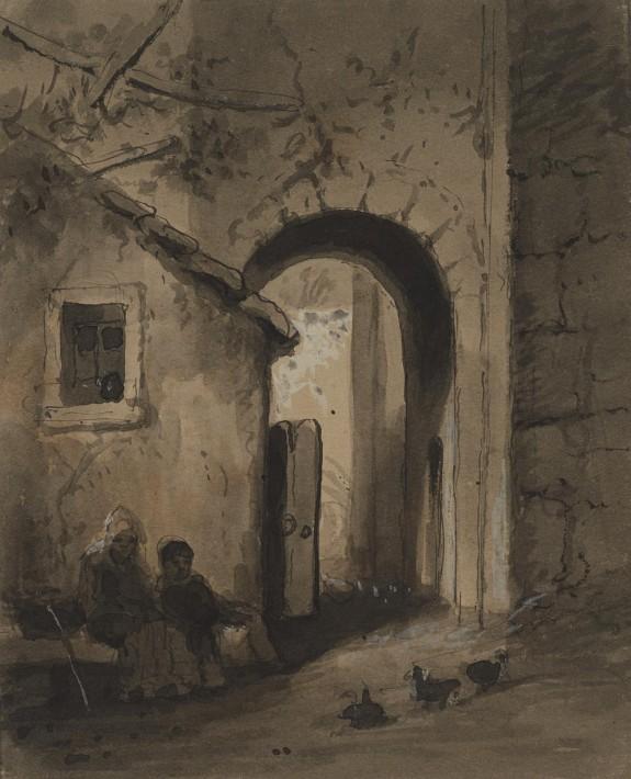 Children Outside a Gate