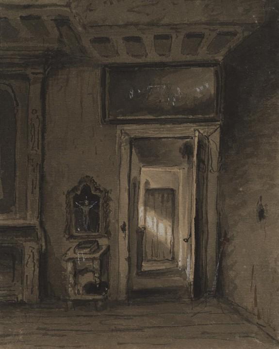 Room with Prie-dieu and Open Door