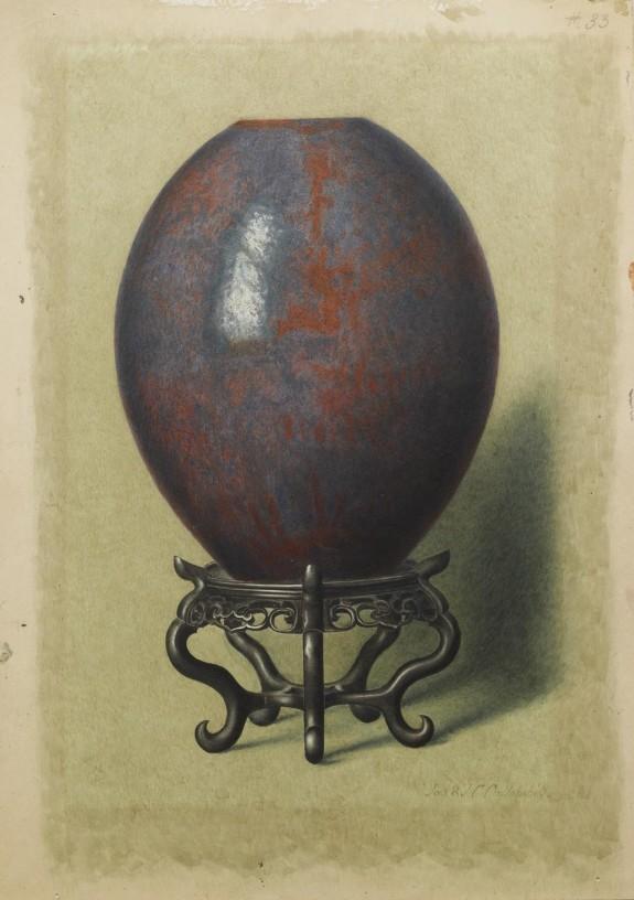 Iridescent Iron-Rust Vase