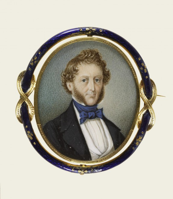Brooch with Portrait Miniature