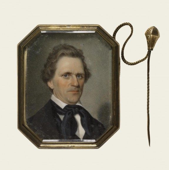 Brooch with Portrait Miniature of a Man