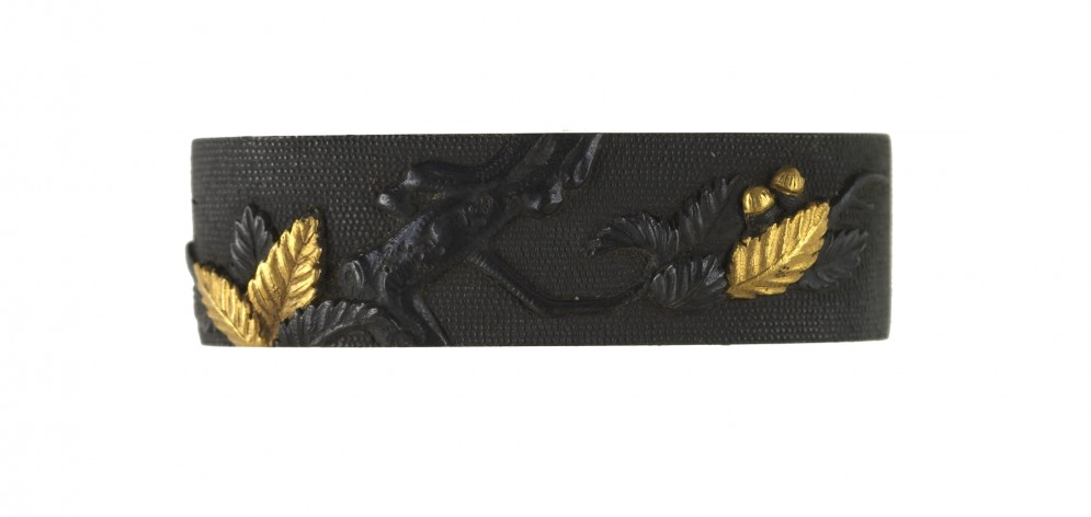 Fuchi with Oak Branch and Acorns