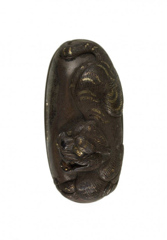 Kashira with a Tiger