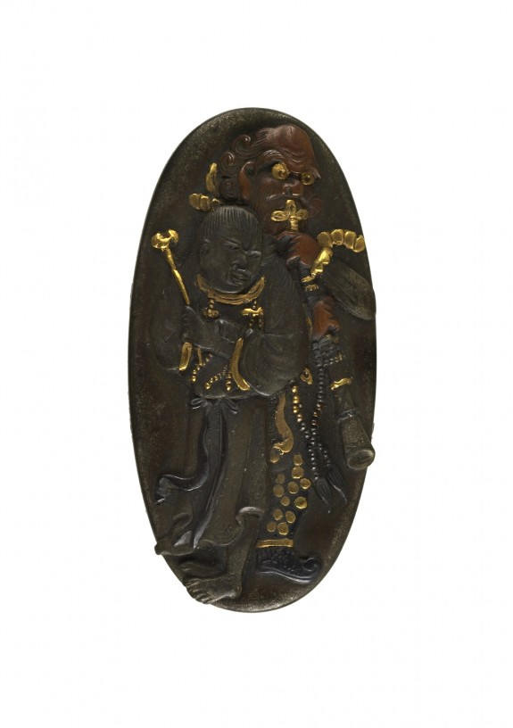 Kashira with Two Figures