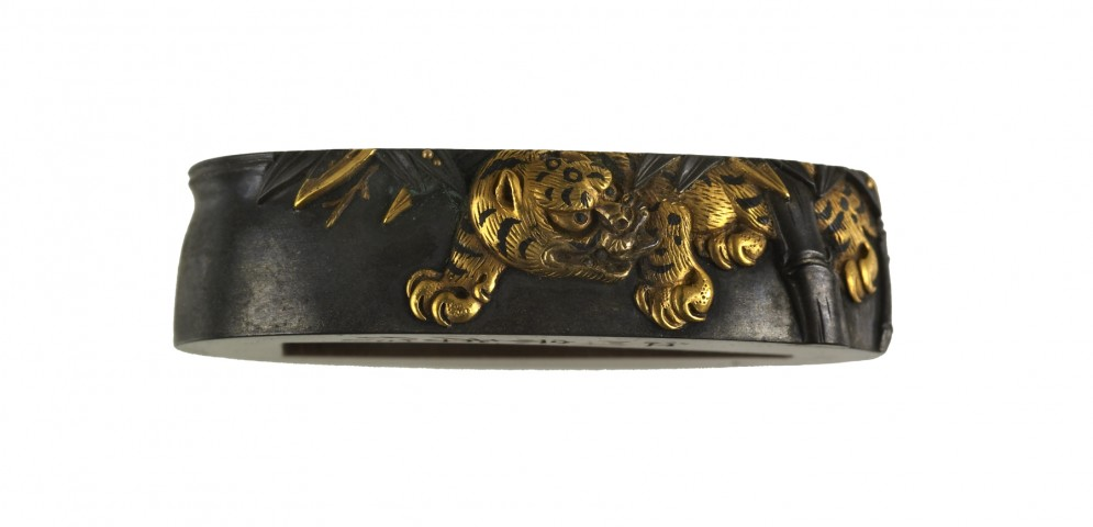 Fuchi with Tiger and Bamboo
