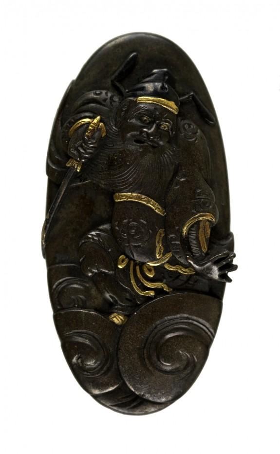 Kashira with Shoki the Demon Queller