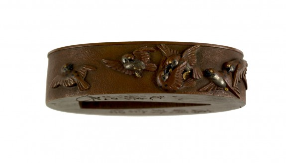 Fuchi with Sparrows