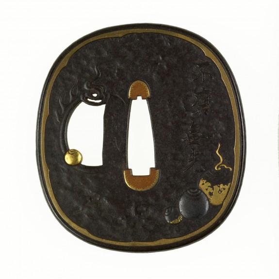 Tsuba with Sacred Jewels (
