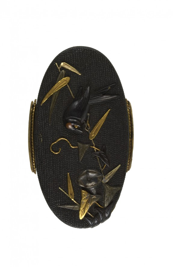 Kashira with Swallow