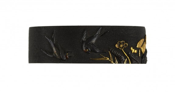 Fuchi with Swallows and Plants