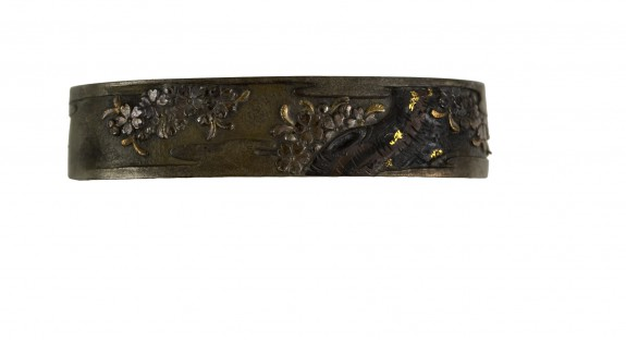 Fuchi with Cherry Blossoms in Clouds