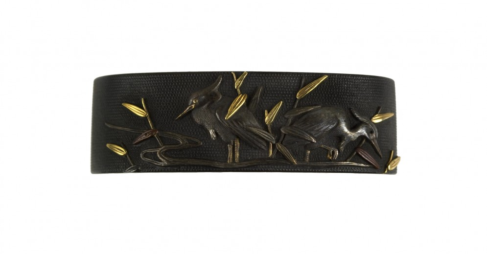 Fuchi with Herons and Reeds