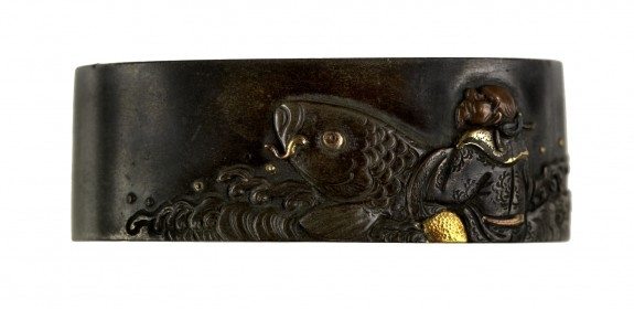 Fuchi with the Chinese Immortal Kinkô Riding a Carp