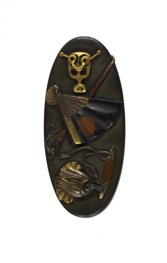 Kashira with Samurai Armor