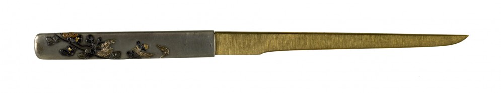 Kozuka with Chrysanthemums and Butterfly