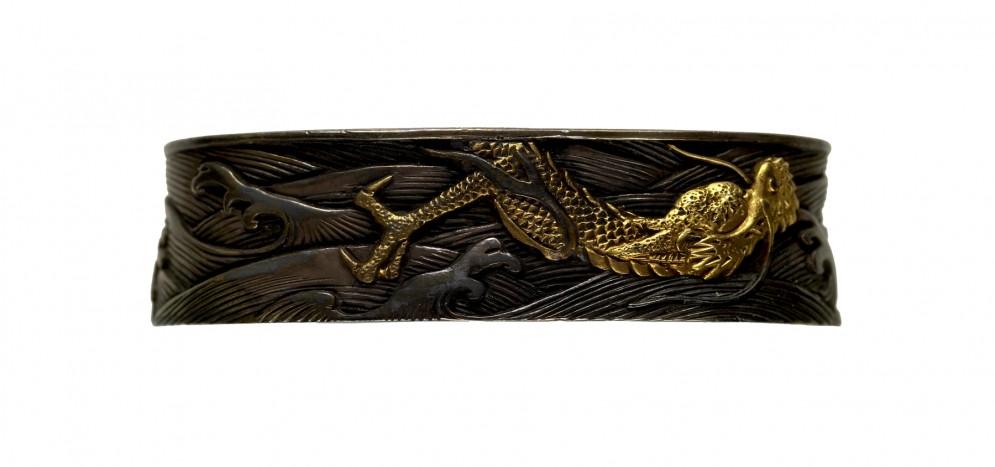 Fuchi with Swimming Dragon