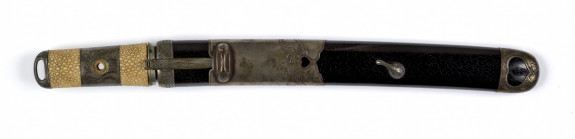 Dagger (aikuchi) with silver mounts of crashing waves (includes 51.1162.1-51.1162.4)