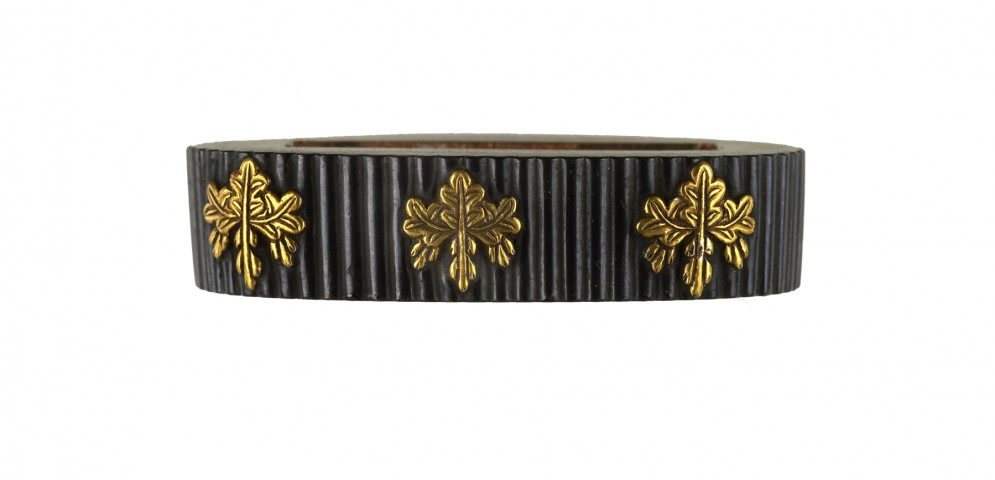 Fuchi with Paulownia Crests