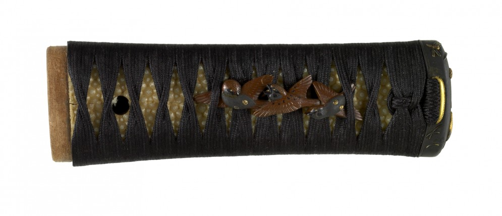 Tsuka with Sparrows and Quail