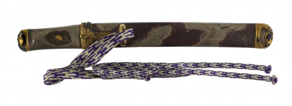 Dagger (aikuchi) with insects and autumn flowers (includes 51.1193.1-51.1193.3)