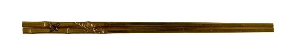 Kogai with Bamboo and Sparrow