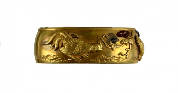 Fuchi with Chickens and Autumn Flowers