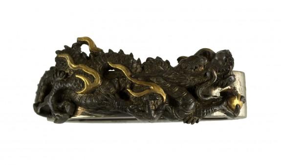 Fuchi with Dragon and Jewel