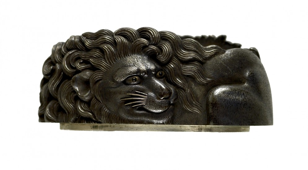 Fuchi with Crouching Lions