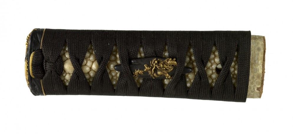 Tsuka with Dragons in Waves and Clouds